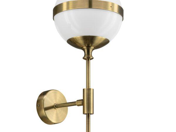 813611 (MB1803-1EB) Бра GLOBO 1х40W E14 electroplating bronze/white (в комплекте)