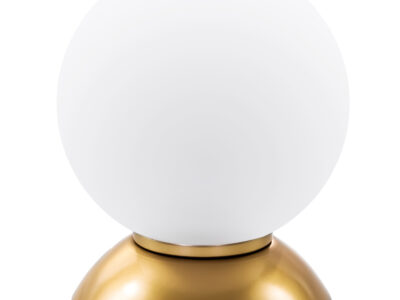 813912*** (MT5092-1JS)  Настольная лампа GLOBO 1х40W  E14 gold/white (в комплекте)