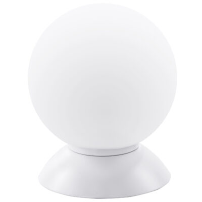 813916*** (MT5092-1W)  Настольная лампа GLOBO 1х40W  E14 mute white/white (в комплекте)