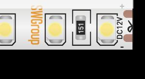 Лента светодиодная стандарт 3528, 120 LED/м, 9,6 Вт/м, 12В , IP65, Цвет: Нейтральный белый