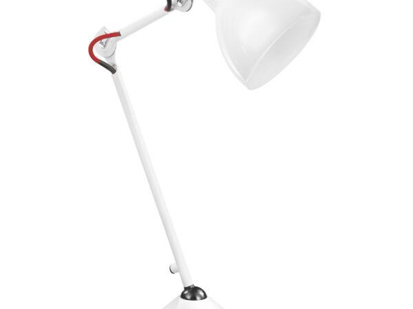 865916 (MТ1201802-1А) Настольная лампа LOFT 1х40W E14 БЕЛЫЙ (в комплекте)