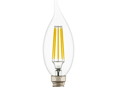 933602 Лампа LED FILAMENT 220V CA35  E14 6W=65W 400-430LM 360G CL 3000K 30000H (в комплекте)