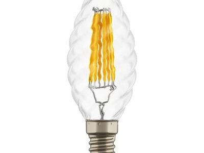 933702 Лампа LED FILAMENT 220V C35 E14 6W=65W 400-430LM 360G CL 3000K 30000H (в комплекте)