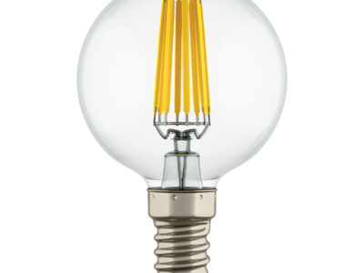 933804*** Лампа LED FILAMENT 220V G50  E14 6W=65W 400-430LM 360G CL 4000K 30000H (в комплекте)