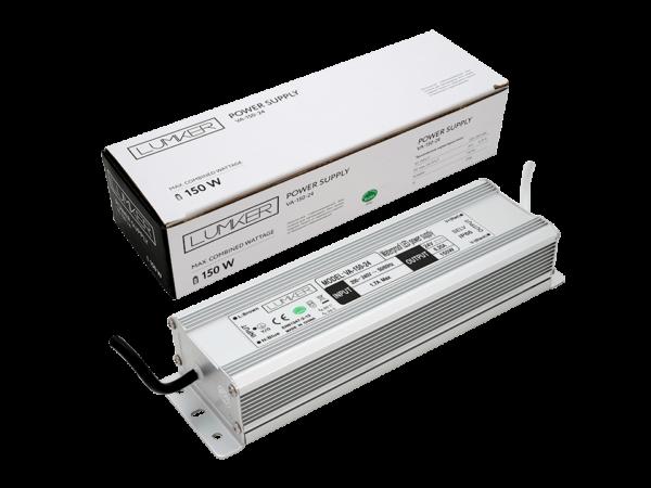 Блок питания для светодиодной ленты LUX влагозащищенный, 24В, 150Вт, IP67