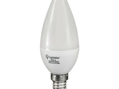 940512*** Лампа LED 220V C35 E14 6W=60W 500LM 360G 3000K DIMM (в комплекте)