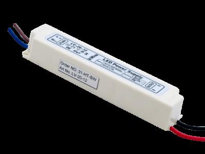 Блок Питания для ленты IP 67 пластик 20 W, 12V