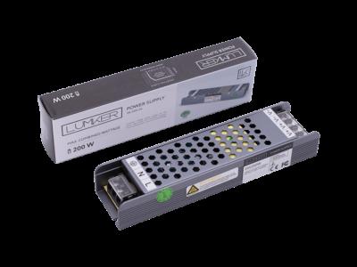 Блок питания для светодиодной ленты LUX компактный, 24В, 200Вт, IP20