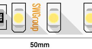 Лента светодиодная стандарт 3528, 120 LED/м, 9,6 Вт/м, 24В , IP20, Цвет: Теплый белый