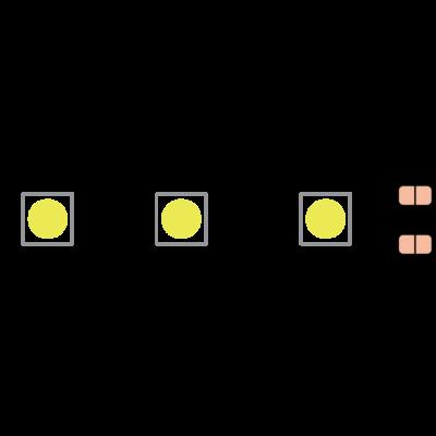 Лента светодиодная эконом 5050, 60 LED/м, 14,4 Вт/м, 12В , IP20, Цвет: Красный