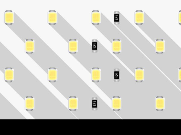 Лента светодиодная LUX, 2835, 280 LED/м, 26 Вт/м, 24В, IP33, Теплый белый (3000K)