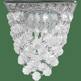 Светильник Ecola GX53 H4 5358 Glass Квадрат «Хрустальная гроздь» Прозрачный / Хром 150x110x110