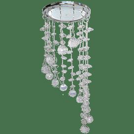 Светильник Ecola GX53 H4 5354 Glass Круг «Хрустальная нить» Прозрачный / Хром 330×105