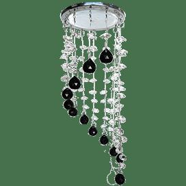 Светильник Ecola GX53 H4 5354 Glass Круг «Хрустальная нить» Прозрачный и Черный / Хром 330×105