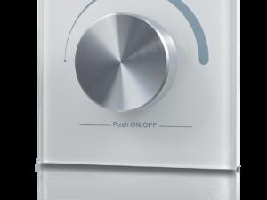 Радио панель W-DIM (W) встраиваемая в стену с валкодером на 1 зону, белая