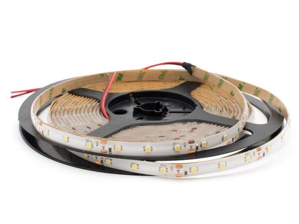 Лента светодиодная стандарт 3528, 60 LED/м, 4,8 Вт/м, 12В , IP65, Цвет: Теплый белый