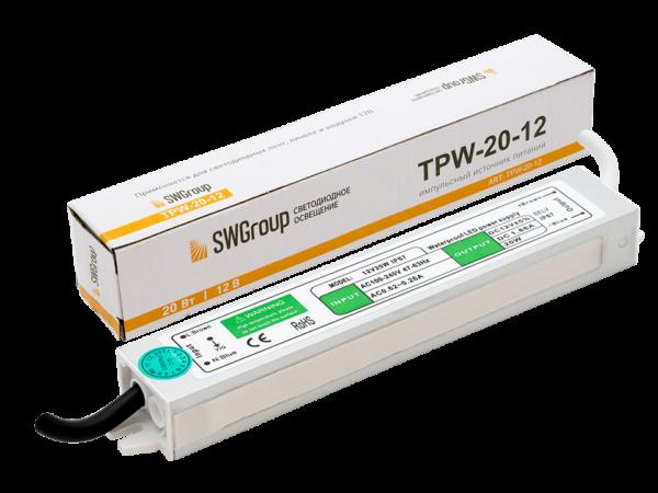 Al блок питания TPW, 20W влагозащитный, 12V