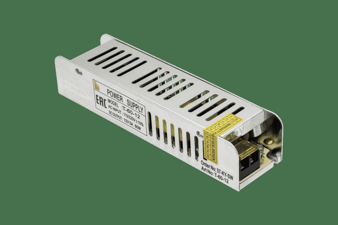 Блок питания компактный (узкий), 60 W, 12V