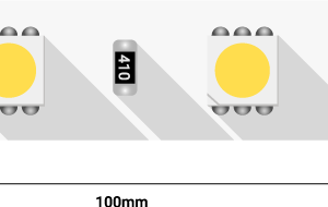 Лента светодиодная LUX, 5050, 60 LED/м, 14,4 Вт/м, 24В, IP33, Теплый белый (2700K)