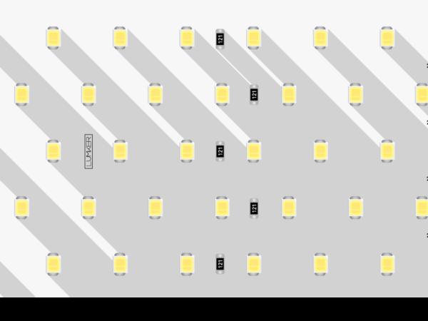 Лента светодиодная LUX, 2835, 350 LED/м, 31 Вт/м, 24В, IP33, Теплый белый (3000K)