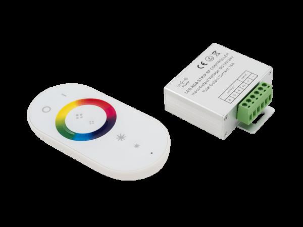 Контроллер для ленты 18А, 12/24 Вольт, RF-RGB-S-18A-WH1