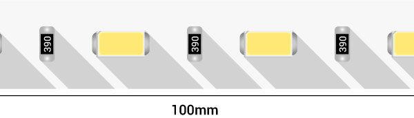 Лента светодиодная LUX, 5730, 60 LED/м, 14,4 Вт/м, 24В, IP33, Холодный белый (6500K)