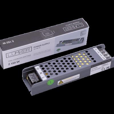 Блок питания для светодиодной ленты LUX компактный, 12В, 150Вт, IP20