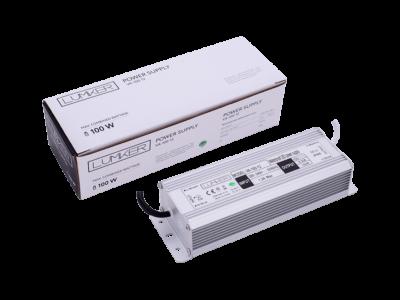Блок питания для светодиодной ленты LUX влагозащищенный, 12В, 100Вт, IP67
