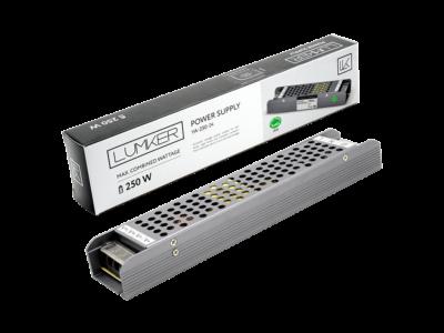 Блок питания для светодиодной ленты LUX компактный, 24В, 250Вт, IP20