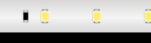 Лента светодиодная LUX, 2835, 60 LED/м, 6 Вт/м, 24В, IP67, Нейтральный белый (4000K)