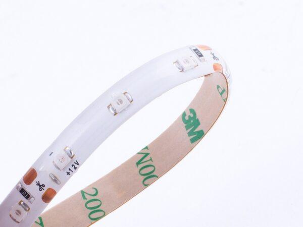 Лента светодиодная однорядная стандарт 3528, 60 LED/м, 4,8 Вт/м, 12В, IP65, Цвет: Зеленый