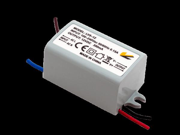 Блок Питания для ленты IP 67 пластик 5 W, 12V