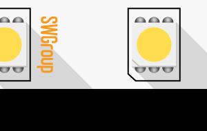 Лента светодиодная стандарт 5050, 60 LED/м, 14,4 Вт/м, 24В , IP20, Цвет: Теплый белый