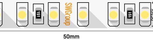 Лента светодиодная стандарт 3528, 120 LED/м, 9,6 Вт/м, 24В , IP20, Цвет: Холодный белый