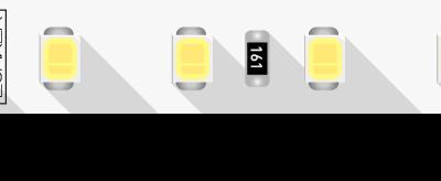 Лента светодиодная LUX, 2835, 98 LED/м, 10 Вт/м, 24В, IP33, Нейтральный белый (4000K)
