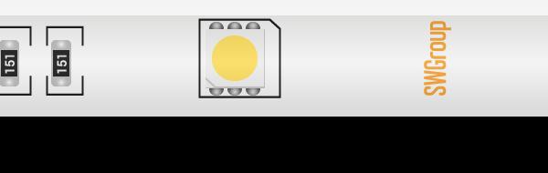 Лента светодиодная стандарт 5050, 30 LED/м, 7,2 Вт/м, 12В , IP65, Цвет: Холодный белый