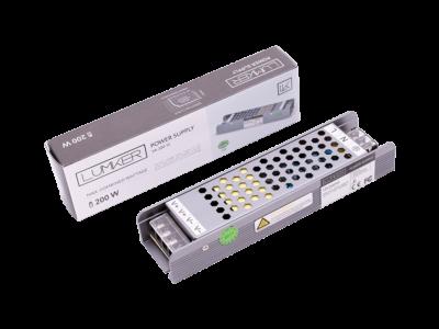 Блок питания для светодиодной ленты LUX компактный, 12В, 200Вт, IP20