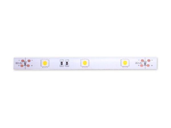 Лента светодиодная стандарт 5050, 30 LED/м, 7,2 Вт/м, 12В, IP65, Цвет: Теплый белый (2800К)