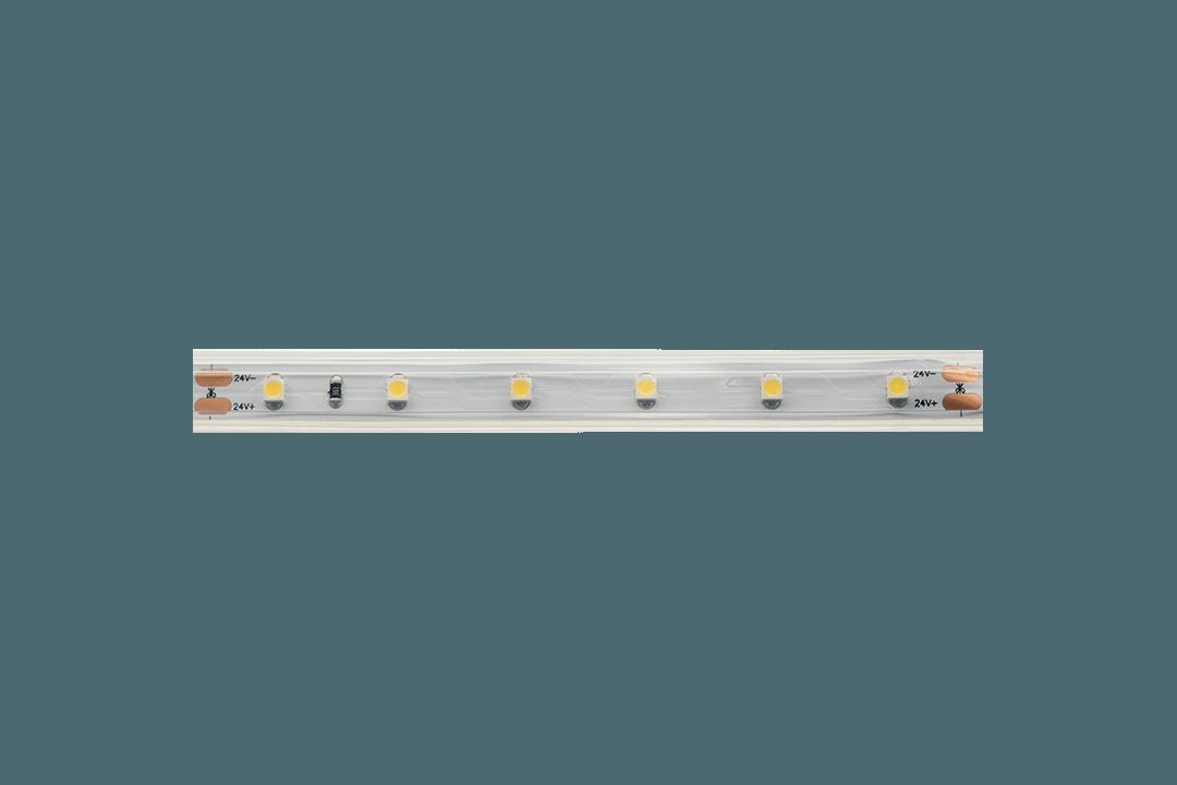 Лента светодиодная LUX, 3528, 60 LED/м, 4,8 Вт/м, 24В, IP65, Нейтральный белый (4000K)