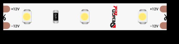 Лента светодиодная LUX, 3528, 60 LED/м, 4,8 Вт/м, 12В, IP65, Холодный белый (6000K)