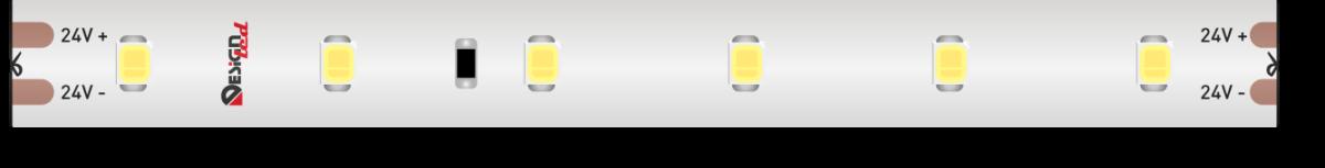 Лента светодиодная LUX, 2835, 60 LED/м, 6 Вт/м, 24В, IP67, Холодный белый (6000K)