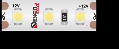 Лента светодиодная LUX, 3528, 120 LED/м, 9,6 Вт/м, 12В, IP65, Холодный белый (6000K)