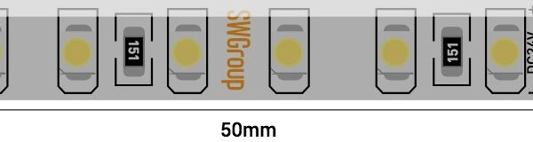 Лента светодиодная стандарт 3528, 120 LED/м, 9,6 Вт/м, 24В , IP65, Цвет: Нейтральный белый