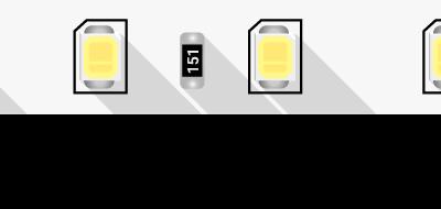 Лента светодиодная ПРО 2835, 80 LED/м, 7,2 Вт/м, 24В , IP20, Цвет: Холодный белый