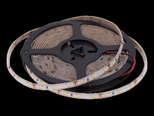 Лента светодиодная стандарт 2835, 60 LED/м, 4,8 Вт/м, 12В, IP65, Цвет: Теплый белый (2800К)