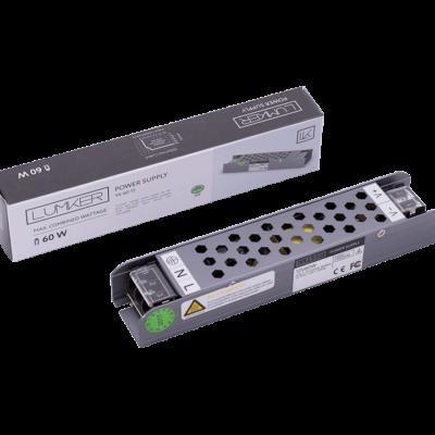 Блок питания для светодиодной ленты LUX компактный, 12В, 60Вт, IP20