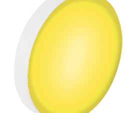 Ecola GX53   LED color Premium 12,0W Tablet 220V Yellow Желтый матовая 28×74