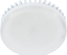 Ecola GX53 LED 10,0W Tablet 220V 2800K матовый поликарбонат (ребристый алюм. радиатор) 27×75
