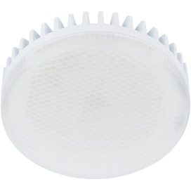 Лампа Еcola GX53   LED 10.0W Tablet 220V 2800K матовое стекло (ребристый алюм. радиатор) 27×75