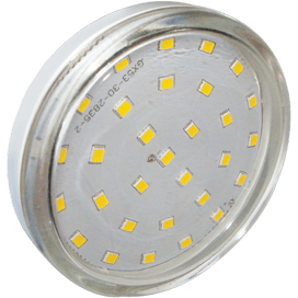 Ecola Light GX53 LED 6,0W Tablet 220V 2800K 27×75 прозрачный поликарбонат 30000h